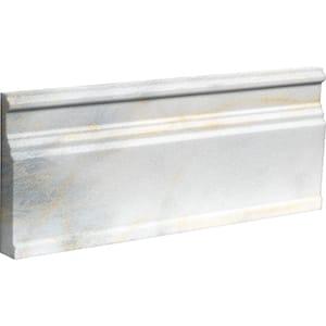 Calacatta Fusion Polished Modern Base Marble Moldings 12x30,5