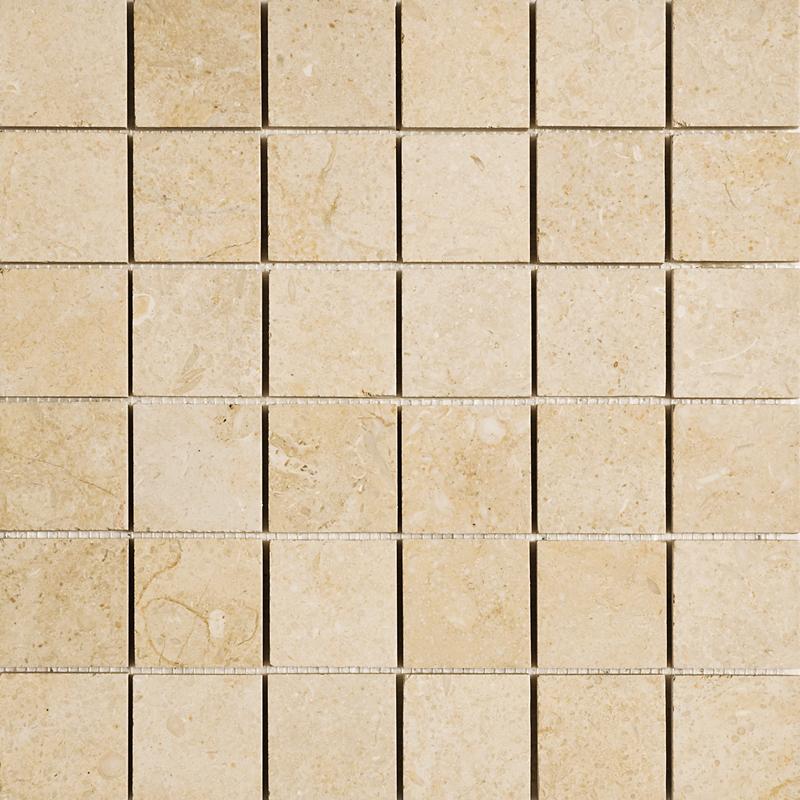 Seashell Honed 30,5x30,5 2x2 Limestone Mosaics