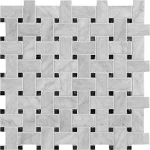 Avenza Honed Basket Weave Marble Mosaics 30,5x30,5