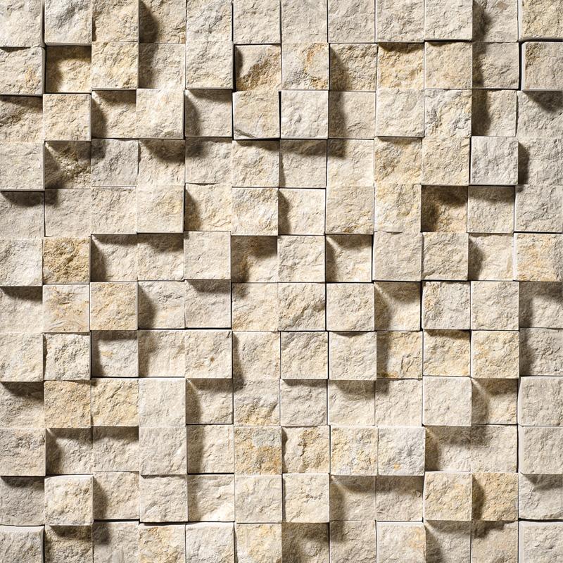 Seashell Rock Face 32x32 1x1 Limestone Mosaics