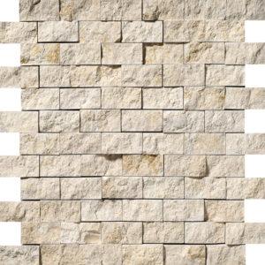 Seashell Rock Face 2,5x5 Limestone Mosaics 32x32
