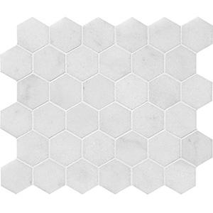 Avalon Polished Hexagon Marble Mosaics 26,5x31
