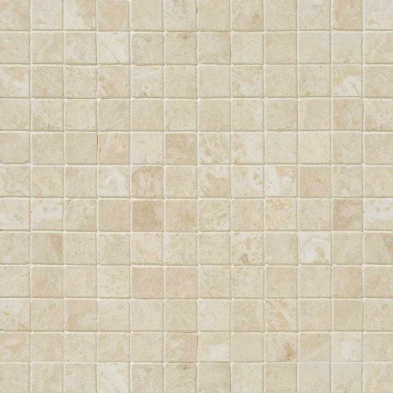 Ivory Honed&filled 2,3x2,3 Travertine Mosaics 30,5x30,5