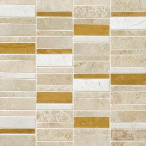Aspen Dawn Honed&filled Broken Trail Travertine Mosaics 30,5x30,5