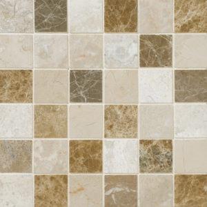 Milano Blend Polished 5x5 Marble Mosaics 30,5x30,5