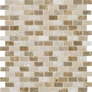 Milano Blend Polished 1,5x3 Marble Mosaics 30,5x30,5