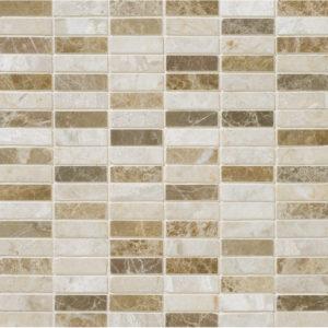 Milano Blend Polished 1,5x5 Marble Mosaics 30,5x30,5