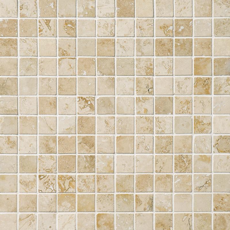 Canyon Honed&filled 2,3x2,3 Travertine Mosaics 30,5x30,5