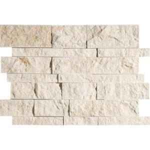 Seashell Split Face Slides Limestone Mosaics 28x43