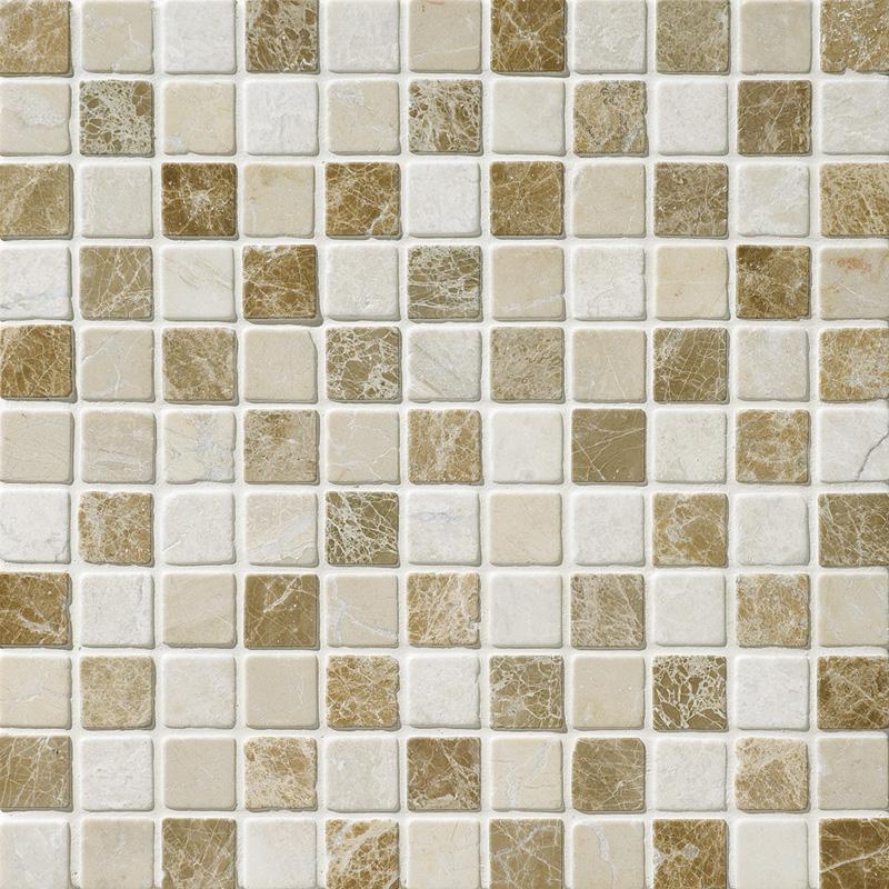 Milano Blend Tumbled 30,5x30,5 1x1 Marble Mosaics