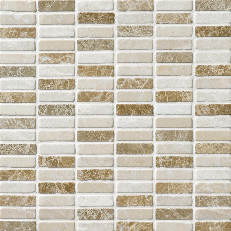 Milano Blend Tumbled 30,5x30,5 5/8x2 Marble Mosaics