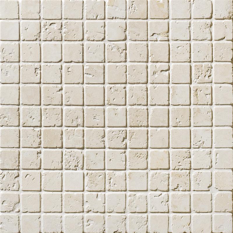 Ivory Tumbled 2,3x2,3 Travertine Mosaics 30,5x30,5