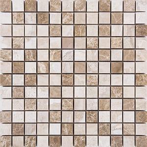 Milano Blend Polished 2,3x2,3 Marble Mosaics 30,5x30,5