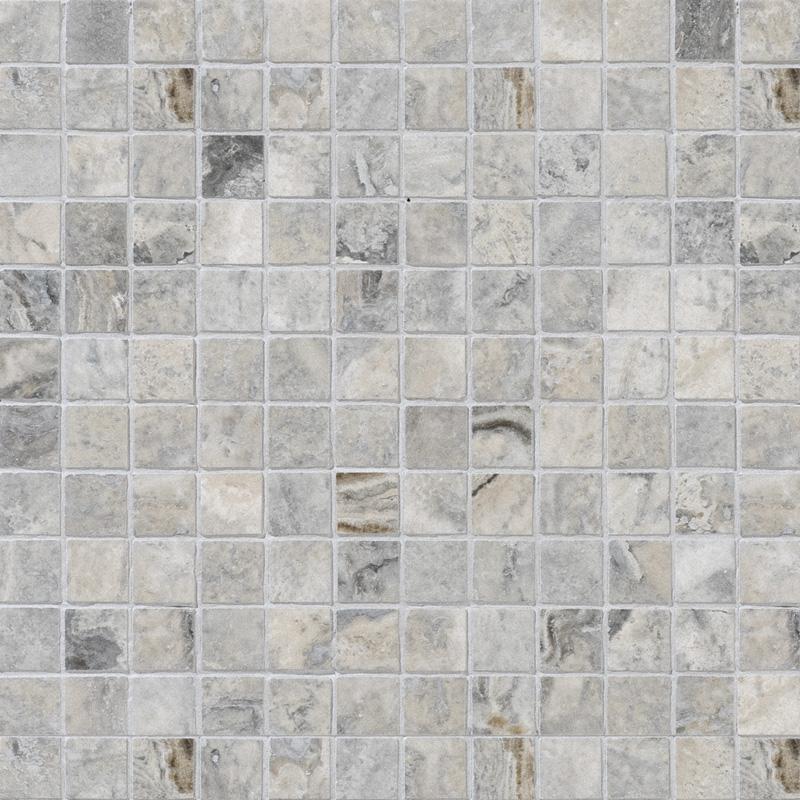 Silverado Honed&filled 2,3x2,3 Travertine Mosaics 30,5x30,5