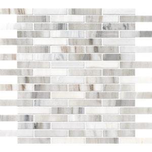 Skyline Polished 1,5x7,6 Marble Mosaics 30,5x30,5