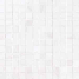 Snow White Polished 2,3x2,3 Marble Mosaics 30,5x30,5
