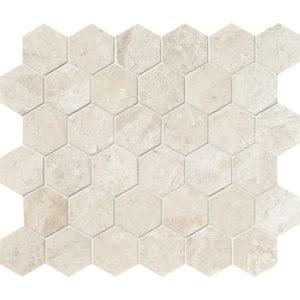 Diana Royal Honed Hexagon Marble Mosaics 26,5x31