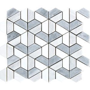 Multicolor Textured Hexagon Marble Mosaics 26,5x31