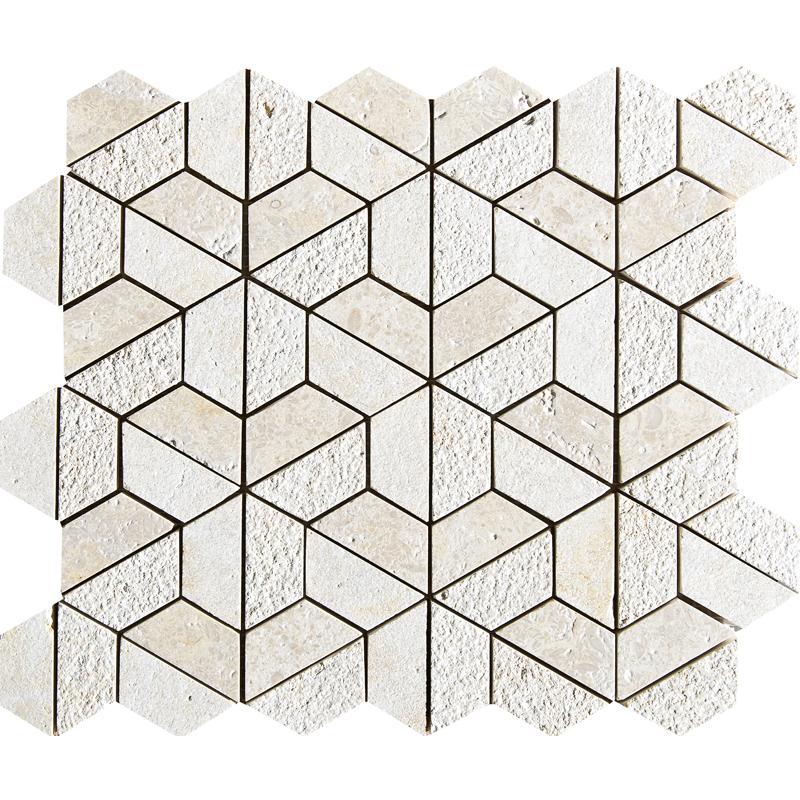 Seashell Textured 30,5x30,5 Hexagon Marble Mosaics