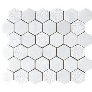 Glacier Textured Hexagon Marble Mosaics 26,5x31