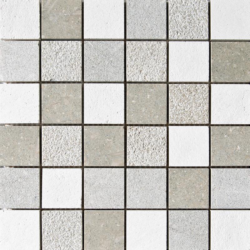 Olive Green&champagne Textured 30,5x30,5 2x2 Limestone Mosaics