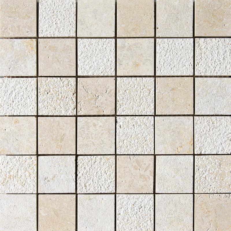 Seashell Textured 30,5x30,5 2x2 Limestone Mosaics