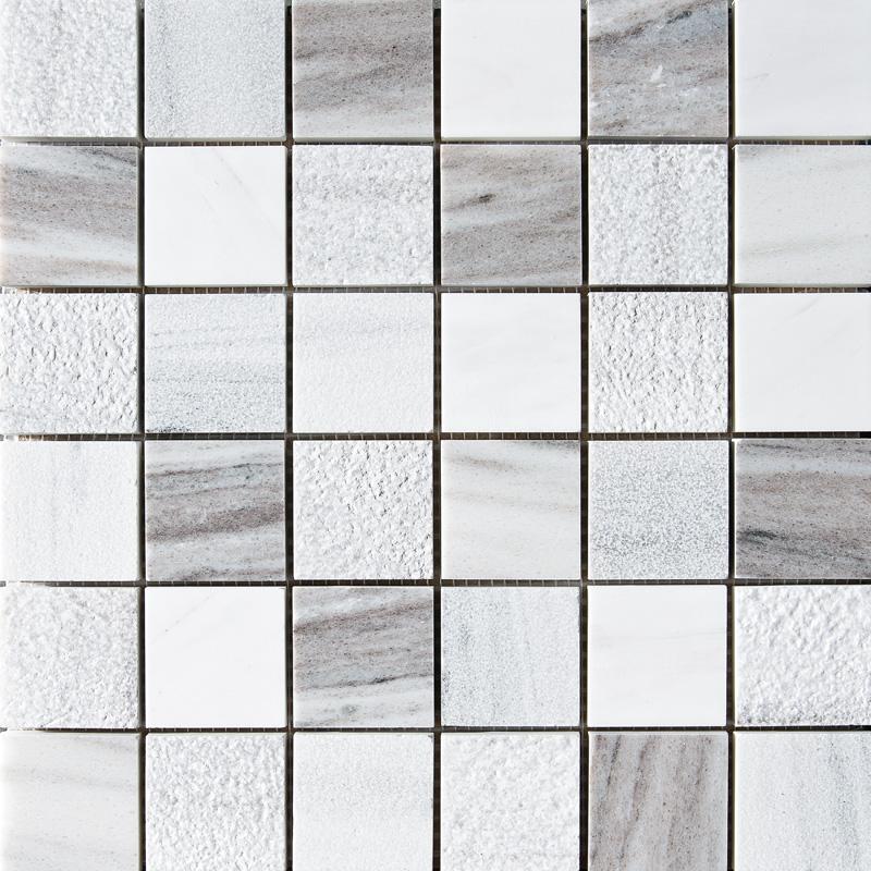 Skyline&avenza Textured 30,5x30,5 2x2 Marble Mosaics