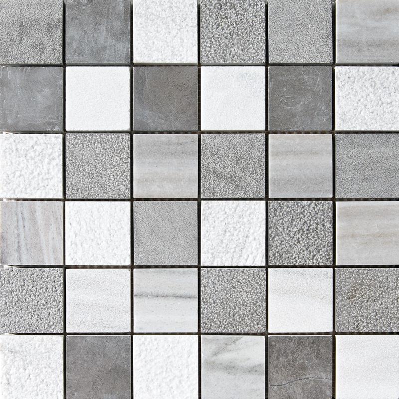 Skyline&bosphorus Textured 30,5x30,5 2x2 Marble Mosaics
