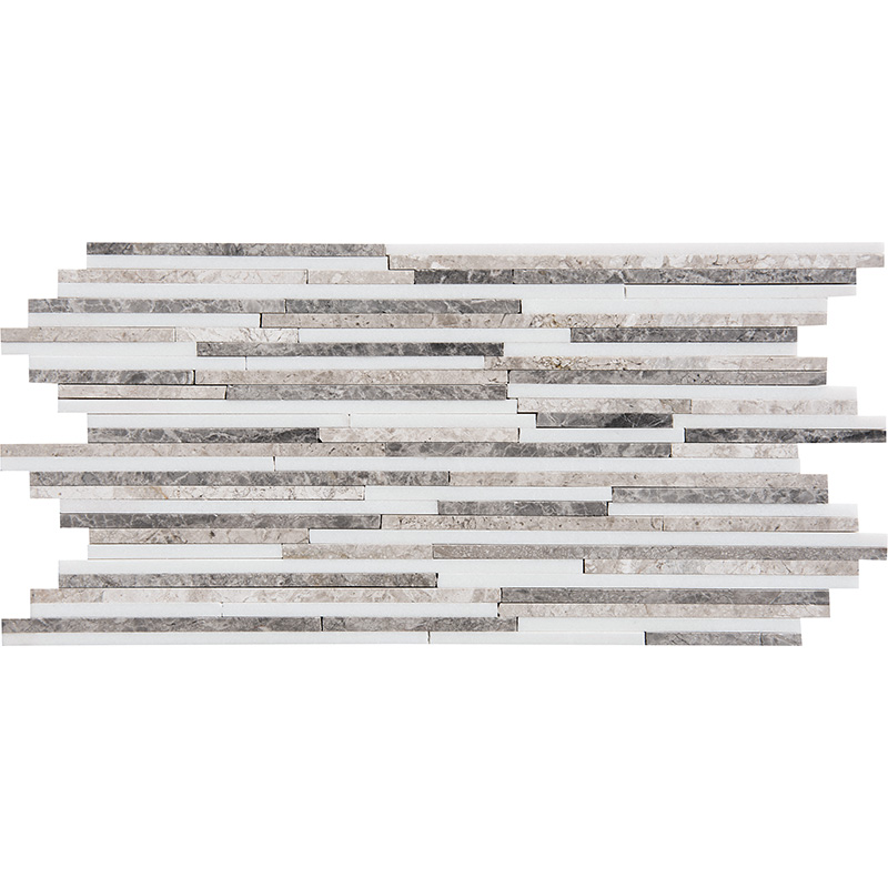 Granada Blend Polished 15,2x30,5 Bamboo Marble Mosaics
