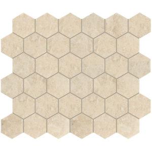 Cappuccino Polished Hexagon Marble Mosaics 26,5x31