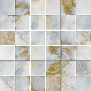 Calacatta Fusion Polished 2x2 Marble Mosaics 30,5x30,5