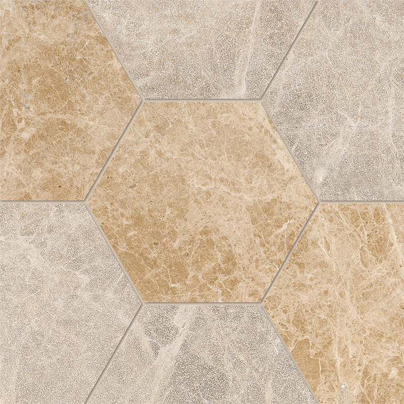 Paradise Multi Finish 14,5x12,5 Hexagon Marble Waterjet Decos