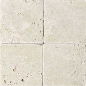 Ivory Tumbled Travertine Tiles 15,2x15,2