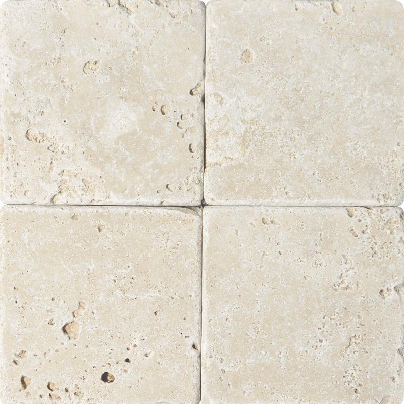 Ivory Travertine Tiles: Ivory Tumbled Travertine Tiles 15,2x15,2