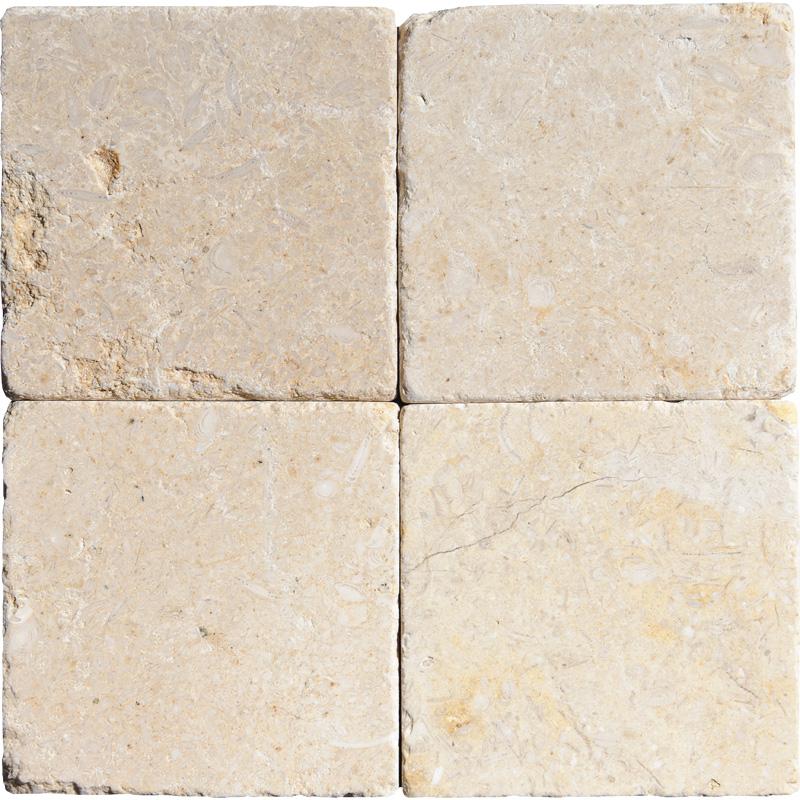 Seashell Tumbled Limestone Tiles 10x10 Tureks