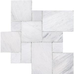 Fantasy White Tumbled Marble Pavers Versailles Pattern