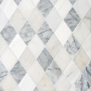 Afyon White, Avenza Light, Dolomite, Gla Multi Finish Almas Marble Waterjet Decos 23,65x26,6
