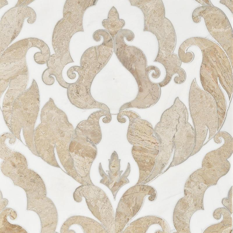 Diana Royal, Dolomite Multi Finish 34,44x45,7 Rumi Marble Waterjet Decos